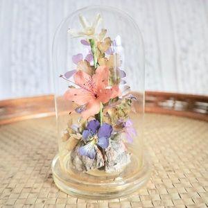 Vintage Captive Gardens Flowers Dome